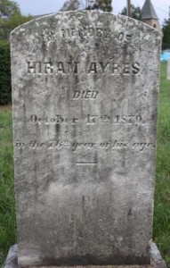 Hiram Ayres, a soldier in the War of 1812.