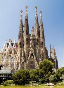 Antoni Gaudi designed church.