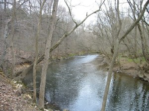 Wissahickon Creek - Wikimedia Commons, by Alphageekpa (sharpened)