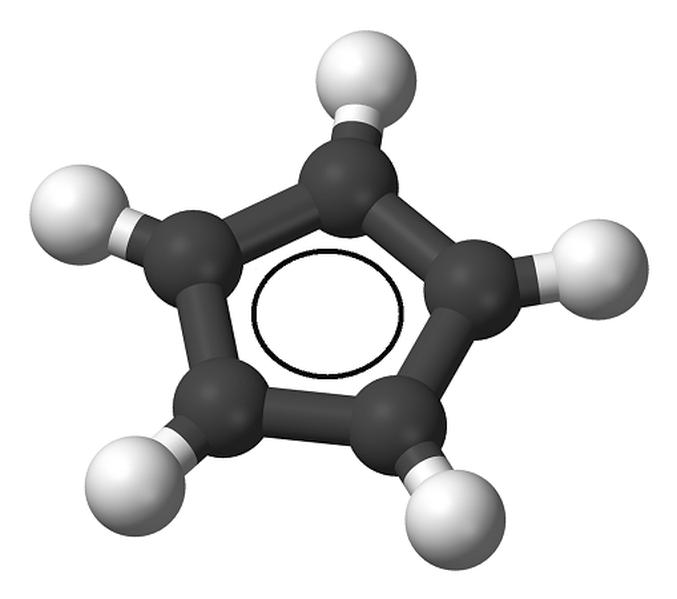 aromatic cyclopentadienyl anion