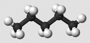 Straight Chain Pentane - PD Wikimedia Commons by Ben Mills and Jinto