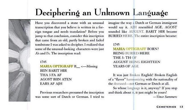 Epitaph Deutsch