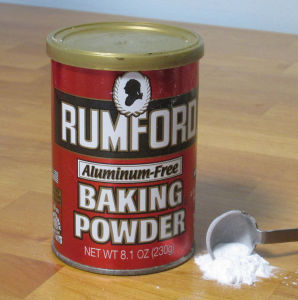 Yeast and baking powder.