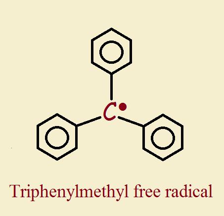 Triphenylmethyl free radical