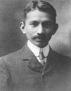 Mahatma Gandhi in 1909. -Image PD by Wikimedia Commons