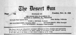 Palm Beach California's Desert Sun newspaper.