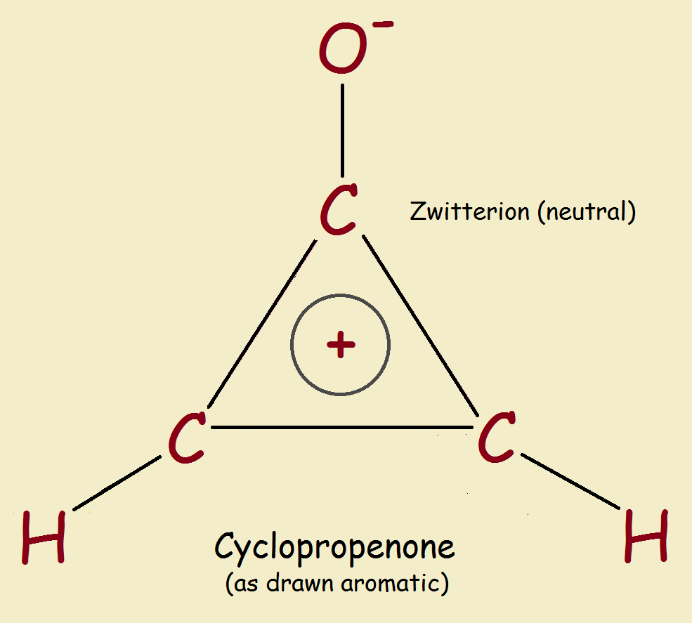 is cyclopropenone aromatic