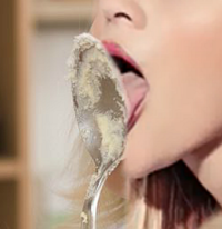 Tongue stuck to a silver spoon