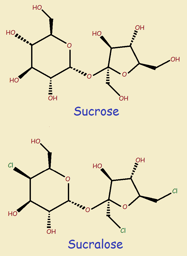 sucrose and sucralose what is the difference chemically