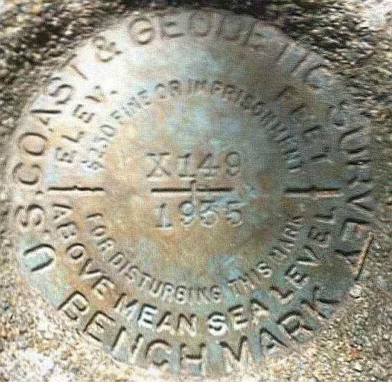I Discover a 1935 U.S. Coast and Geodetic Survey Benchmark
