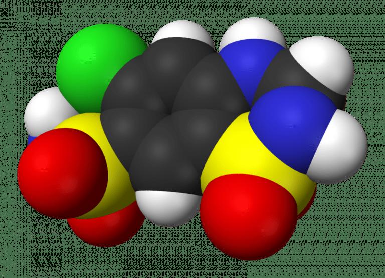 hydrochlorothiazide space fill