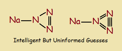 Incorrect hydrazoic acid structures.